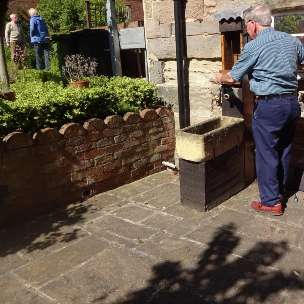 Volunteering at Castle Donington Museum - Fixing the water pump